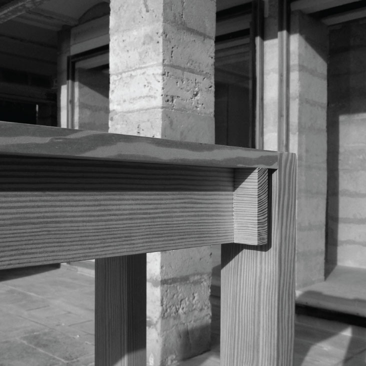 Atelier Lise Juel Utzon Can Lis Restoration restaurering detail table